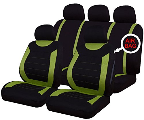 Streetwize SWBKSC Car Van Front Seat Covers Pair Black Protector Water Resistant