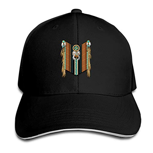 Customized Unisex Trucker Baseball Cap Adjustable Native American Warrior's Breastplate Peaked Sandwich Hat
