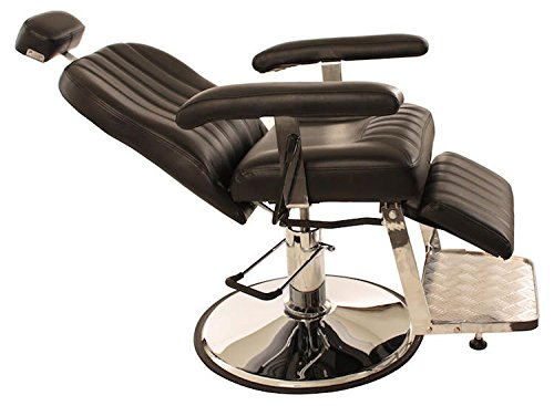 All Purpose Hydraulic Reclining ''Chester'' Barber Chair by CCI Beauty - Salon Beauty Spa Shampoo Equipment Furniture