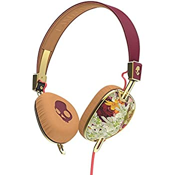 Skullcandy S5AVGM-395 Knockout Women's On-Ear Headphones with Mic & Remote, Floral/Burgundy/Rose Gold