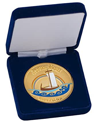 Jesus Boat 24K Gold Platted Coin