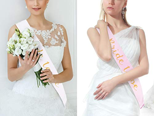 Floral Bridesmaid Sash Rose Gold Hen Night Party Accessories Team Bride Wedding