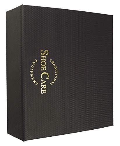 DELARA Kit Exclusif de Cirage à Chaussures, composé de 9 pièces dans Un Coffret Noir avec Lettres d'or 2