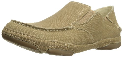 Tony Lama Men's Canvas Slip-on-rr3025, Wheat, 9.5 D US