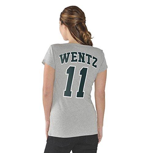 Carson Wentz Philadelphia Eagles #11 NFL Women's Player T-Shirt (Xlarge)