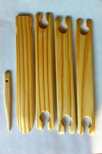 5 Piece 18 inch x 1.5 wide Weaving Shuttles, Free pick up and stick needle