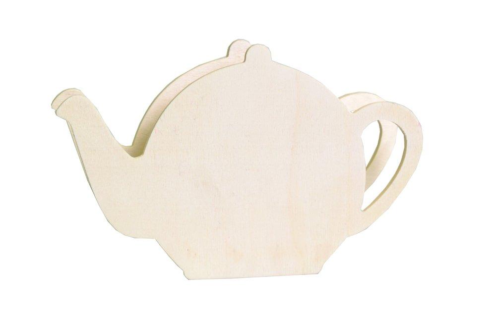 Artemio 21.5 x 13.5 x 4.5 cm Teapot Wooden Napkin Holder, Beige 14001588