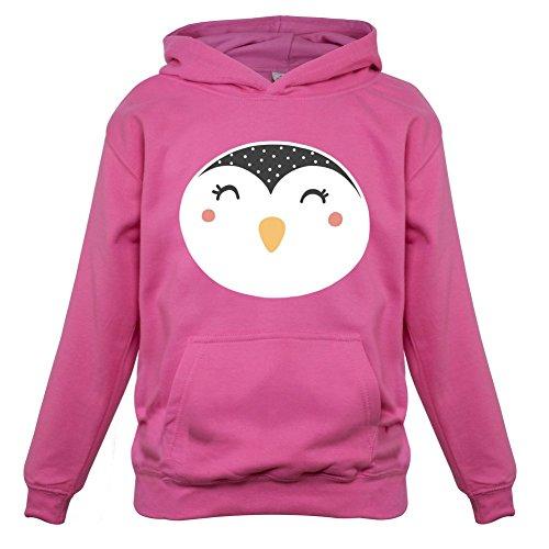 Smiley Face Penguin - Kids Hoodie - Pink - XXL(12-13 YRS) Penguin Kids Hoodie