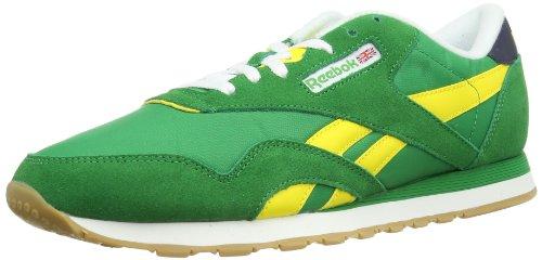 Reebok CL NYLON R13 M4185 Unisex-Erwachsene Sneaker Mehrfarbig (GOAL GREEN/BLAZE YELLOW/WHT/LEMON PEPPER/NAVY)