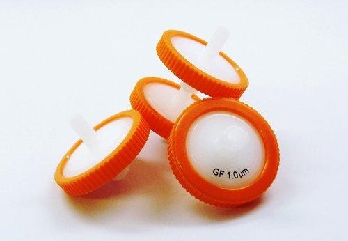 Syringe Filters Glass (SEOH Syringe Filter Orange Glass Fiber Membrane 25mm Diameter 1.0 um Pore Size Pack of 10)