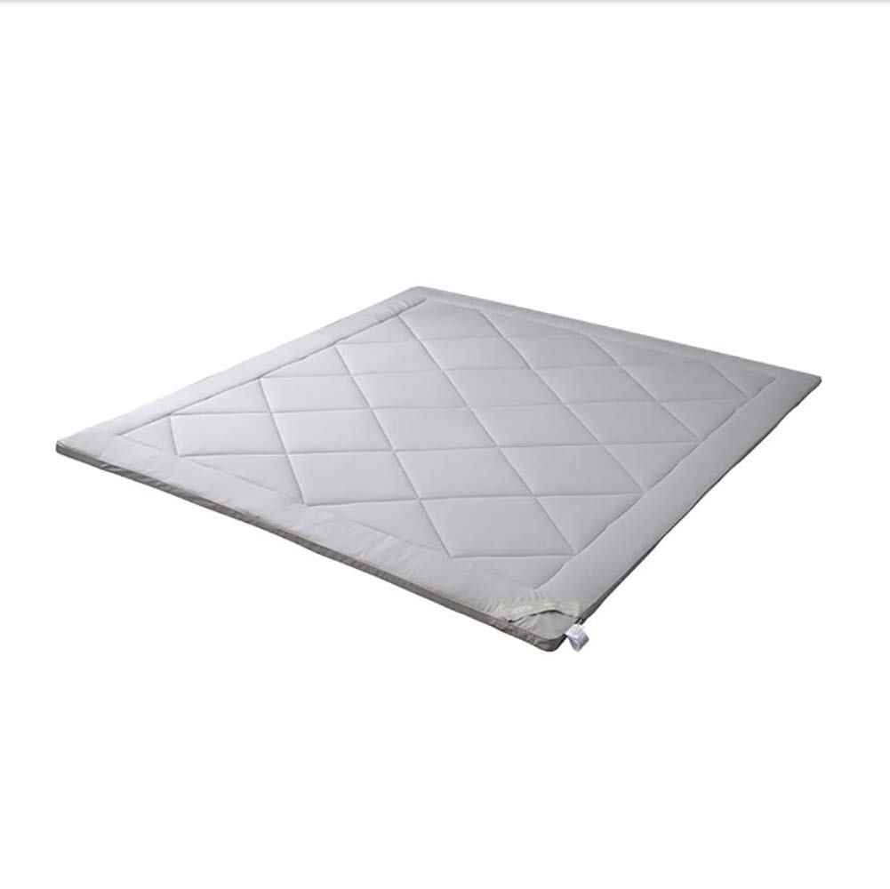 YQ WHJB Polyester Mattress Pads,Tatami Mattress,Fluffy Hotel Overfilled Sofa Foldable Non-Slip Quilted Mattress Protector 1.2m 1.5m 1.8m-Gray 120x200cm(47x79inch)
