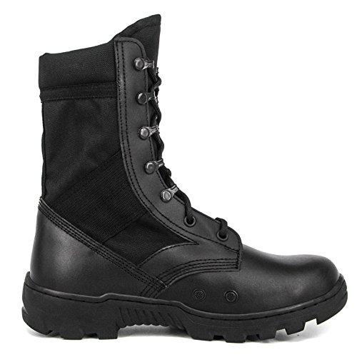 Milforce Men's 10 Inch Military Jungle Boots Lightweight Speedlace Tactical Combat Boots, Black