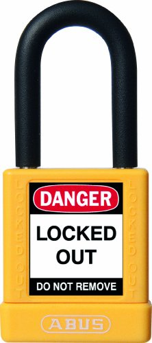 ABUS 59110 Non Conductive Lock Out Tag Out Anodized Aluminium Padlock - Yellow