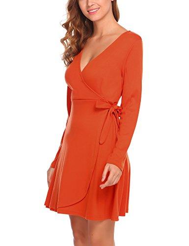 Party Maxi Dress Floor Rose Beach Sleeve Length UNibelle Women's Printed Floral A Chiffon orange Long P1T7z