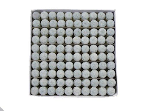 13mm Cue - Scott Edward Billiard Slip-on Tip, Push on Tip for Billiard,cue tips, 13mm,100 Pcs (Grey)