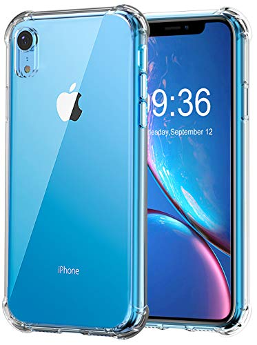 Comsoon iPhone XR Case, [Shock Absorption][Crystal Clear] Soft TPU Bumper Slim Protective Case Cover Scratch-Resistant with 4 Corners Protection for Apple iPhone XR 6.1 inch 2018 (Crystal Clear) -
