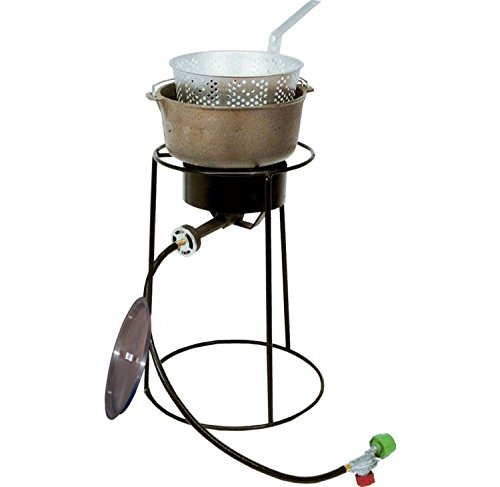 "King Kooker 20"" Fish Fryer Package with 6 Quart Cast Iron Pot by King Kooker"