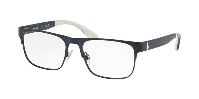 Ralph Lauren POLO 0PH1178 Monturas de gafas, Matte Navy Blue, 56 ...