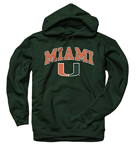 Miami Hurricanes Arch & Logo Gameday Hooded Sweatshirt - Green