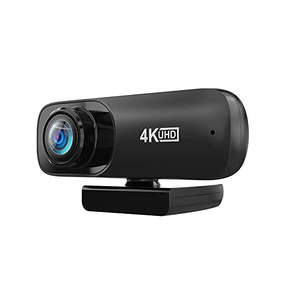 Webcam with Microphone with Automatic Face Beauty Feature 4K HD Streaming USB Computer Webcam Plug and play