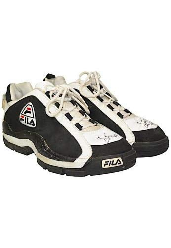 Grant Hill Signed Fila Player Game Used Worn Basketball Sneakers JSA Certified Autographed NBA Sneakers