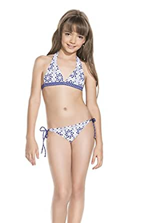 Amazon.com: OndadeMar Girls Mosaic Bikini 2 Piece Set