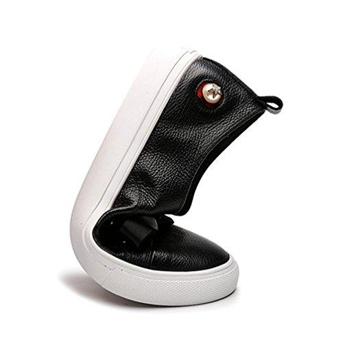 34 Cuir Souple Pied Loafers 40 Endurance Slip Eclair Fermeture Lacet Femme Respirant on Soulier Noir Chaussure Loisir A Confortable Mocassins Rw1pYS