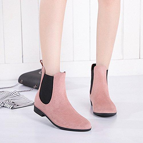 Elastic Booties MAIERNISI Design Fashion Pink nbsp;JESSI Chelsea Rain Ankle Short Boots 9 Women's qpwrX0xp