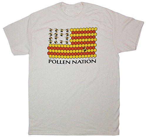 T-shirt Adult Nation - Liberty Graphics Pollen Nation Adult T-Shirt Large Natural