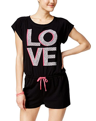 Material Girl Juniors' Active Graphic Romper (Love, L) by Material Girl (Image #1)