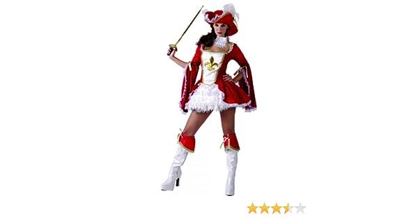 Generique - Disfraz de mosquetera roja para Mujer S: Amazon.es ...