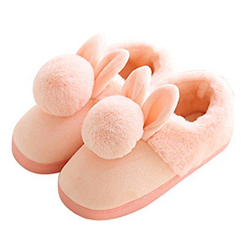 Chaussons Pantoufles Coton Hiver Épais Maison à la Maison Belle Ensemble Complet Intérieur avec des Chaussures Chaudes (Couleur : Pattern 4, Taille : EUR:36-37)