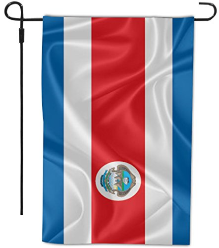 Rikki Knight Costa Rica Flag Design Decorative House or Garden Flag 12 x 18 inch Full Bleed (Proudly Made in The USA)