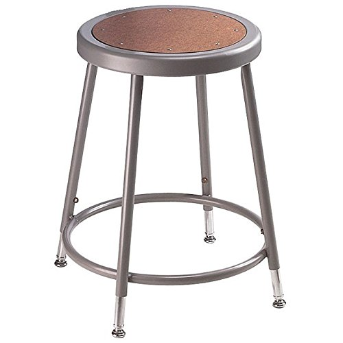 Durable NPS Height Adjustable Heavy Steel Tube Stool with Foot Ring For Sale