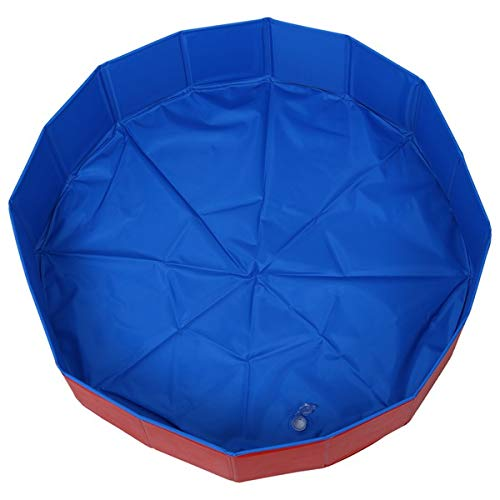 DaKuHo Foldable pet Dog Swimming House Bed Summer Pool bluee+red Foldable Pet Dog Swimming House Bed Summer Pool bluee+Red for VIP Link