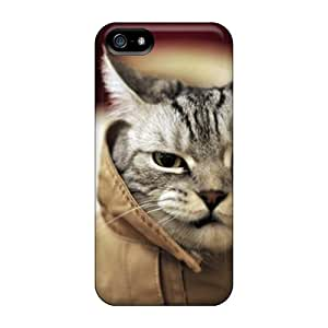 Hot Tpu Cover Case For Iphone/ 5/5s Case Cover Skin - Funny Cat Wallpaper