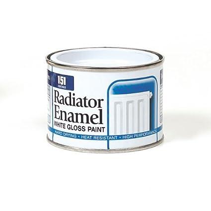 Pintura para radiador, esmalte blanco brillante, 180 ml