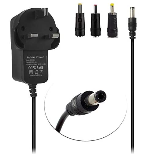 Aukru 5V 2A Charger 5.5mm Power Supply AC DC Adapter UK plug Charger for MX3, MX2, MXQ, M8, M8C CS918 and M5 (2000mA)
