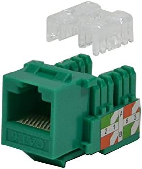 5 pack lot Keystone Jack Cat5e Network Ethernet 110 Punchdown 8P8C Blue Cat5 new