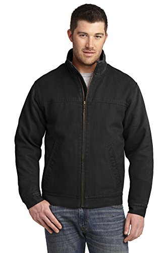 - Cornerstone Men's Washed Duck Cloth Flannel Lined Work Jacket M Black