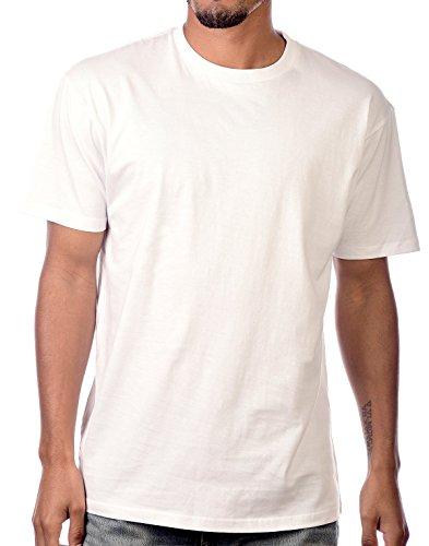 (Circular Ultra Soft Cotton Unisex Blank T-Shirt [White/L])