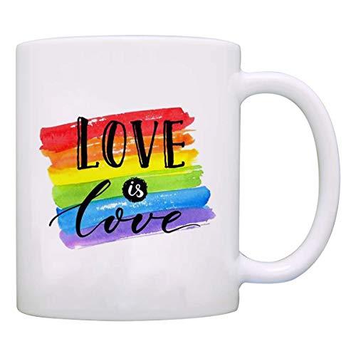 Funny Mugs - Love Is Love - Funny Coffee mug tea Cup 11oz - Valentine