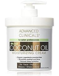 Advanced Clinicals Coconut Oil Cream. Spa size 16oz...