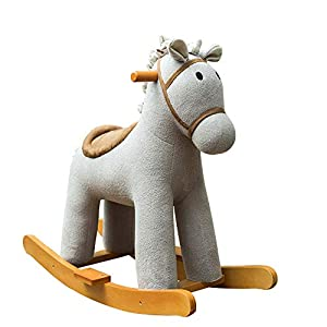 Lxlux Children's Toy Rocking Horse Baby Rocking Horse