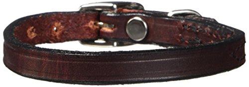 "Hamilton 3/8"" x 12"" Creased Burgundy Leather Dog Collar"