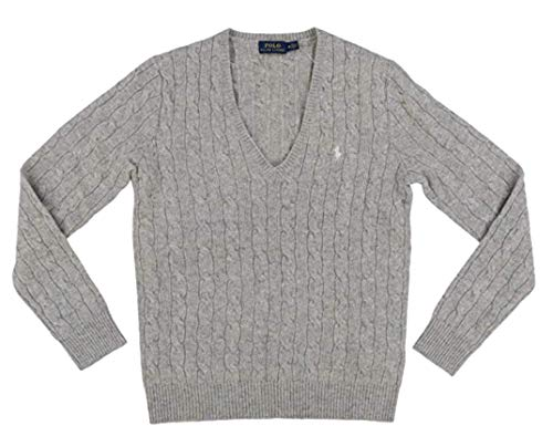 Polo Ralph Lauren Womens Wool Sweater (Small, Gray)