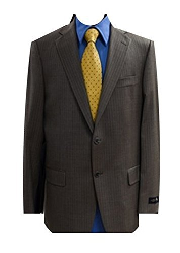 Hart Schaffner Marx Brown Two Button Gold Trumpeter Men's Suit 48 / 43