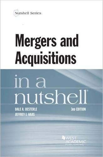 Dale Nuts - Mergers and Acquisitions in a Nutshell (Nutshells)