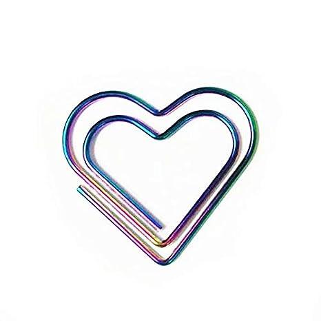 Amazon.com: Pinzas metálicas de color arcoíris con forma de ...