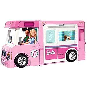 415woBtW4HS. SS300 Barbie GHL93 - 3-in-1 Super Abenteuer-Camper mit Zubehör, Camping Wohnwagen für Puppen, Spielzeug ab 3 Jahren